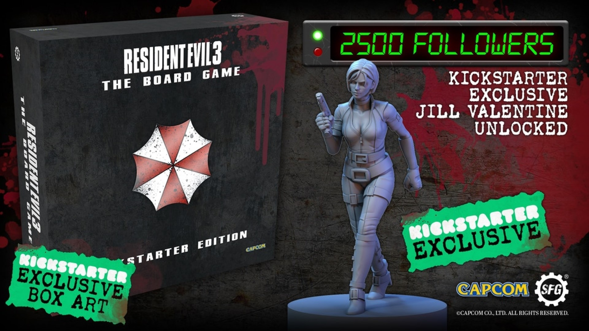 385a5bedfafd1fc58061b687649c8984 original - Resident Evil 3 Board Game Coming Soon To A Kickstarter Near You