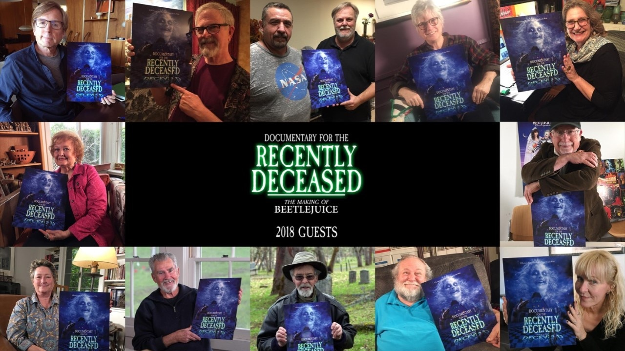 Doc for the recently deceased banner - Trailer: DOCUMENTARY FOR THE RECENTLY DECEASED: THE MAKING OF BEETLEJUICE