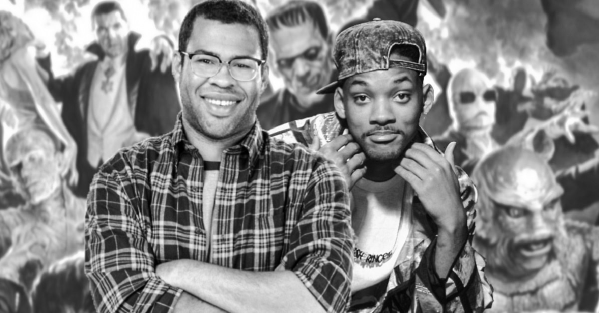 Jordan Peele Will Smith Universal Monsters edited - RUMOR: Jordan Peele & Will Smith Universal Monster Movie In The Works