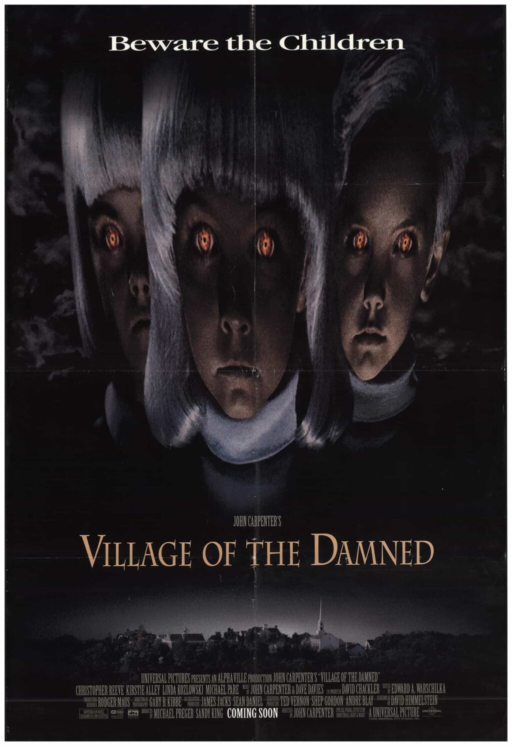 village of the damned 1995 poster 1024x1491 - This Day in Horror History: John Carpenter's VILLAGE OF THE DAMNED Was Unleashed in 1995