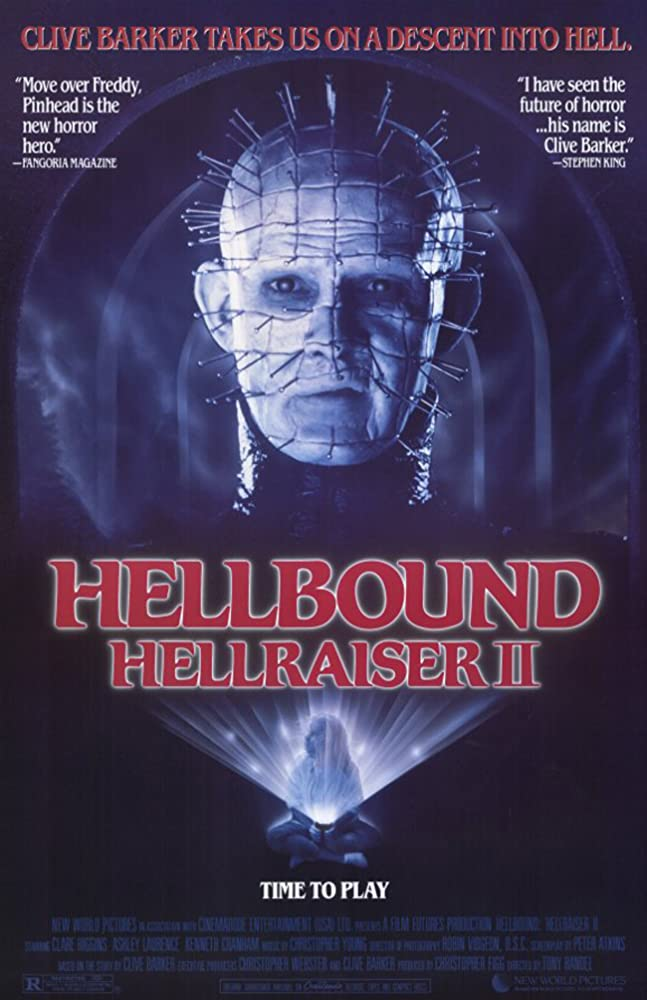 Hellraiser II poster - They Have Such Sights to Show You! HELLRAISER II Watch Party with Original Cenobites Saturday May 30th