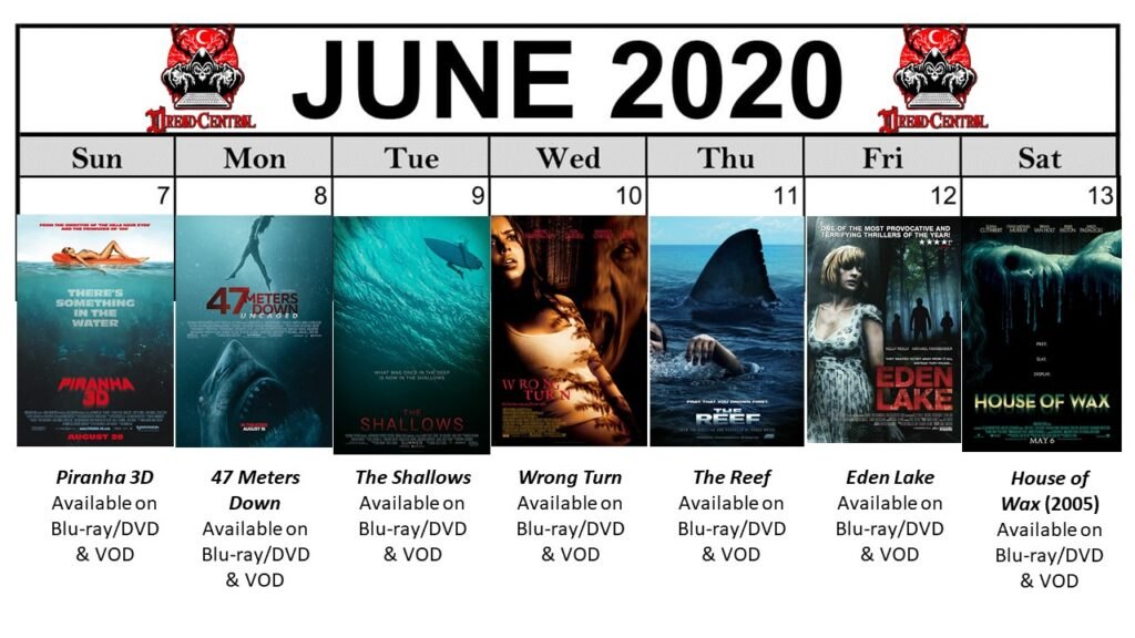 June 2020 Template Week 2 1024x576 - You'll Be Glad You Stayed Home! Our 366-Day #YearOfDread Horror Challenge Continues with Vacations—From Hell!