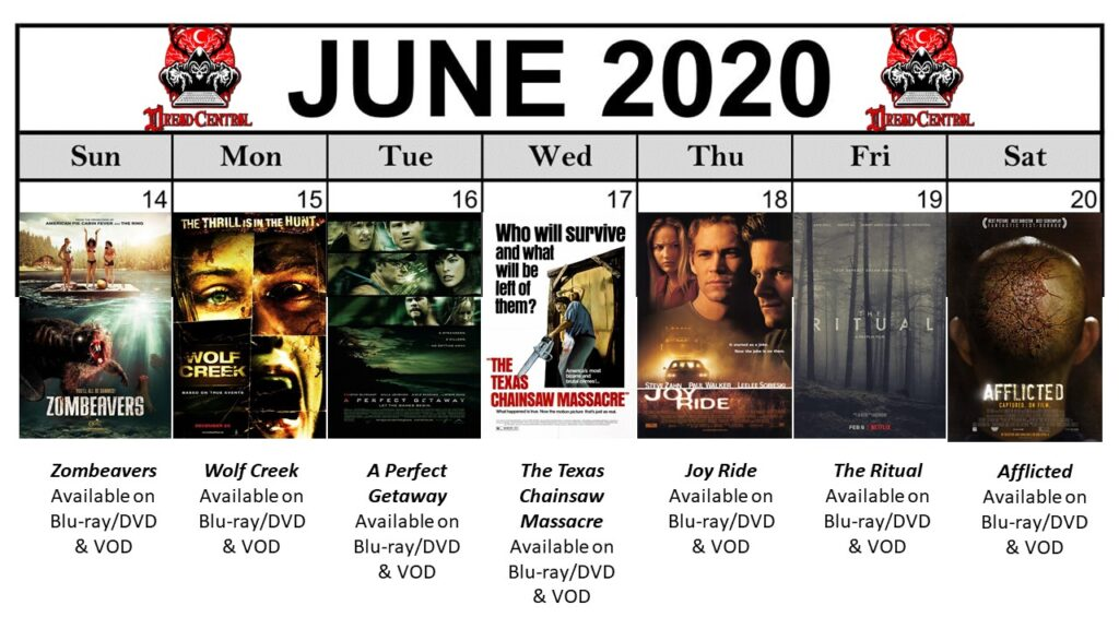 June 2020 Template Week 3 1024x576 - You'll Be Glad You Stayed Home! Our 366-Day #YearOfDread Horror Challenge Continues with Vacations—From Hell!