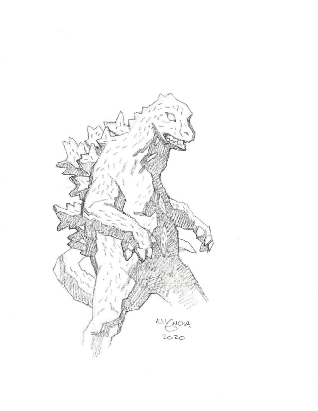 Mike Mignola Godzilla 1 1024x1325 - Mike Mignola Shares Incredible Quarantine Artwork Of All Your Favourite Characters