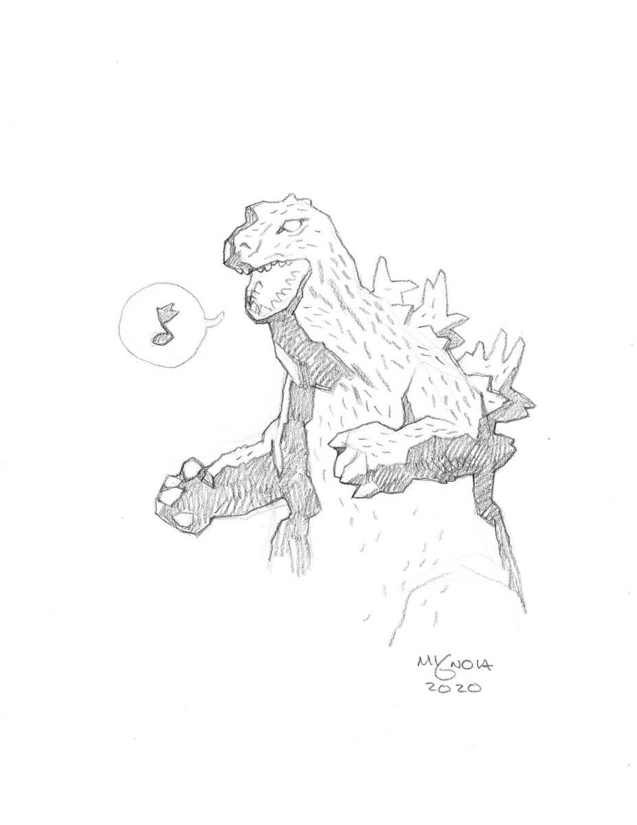 Mike Mignola Godzilla2 1 - Mike Mignola Shares Incredible Quarantine Artwork Of All Your Favourite Characters