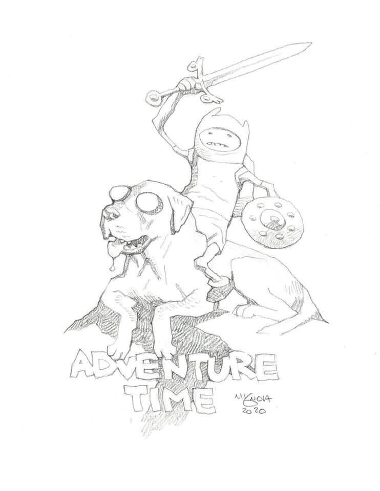 mike mignola advenutre time 1 - Mike Mignola Shares Incredible Quarantine Artwork Of All Your Favourite Characters
