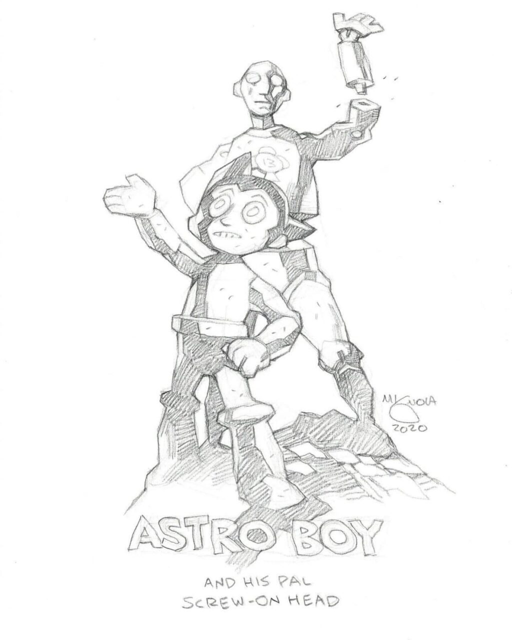mike mignola astro boy 1 1024x1280 - Mike Mignola Shares Incredible Quarantine Artwork Of All Your Favourite Characters