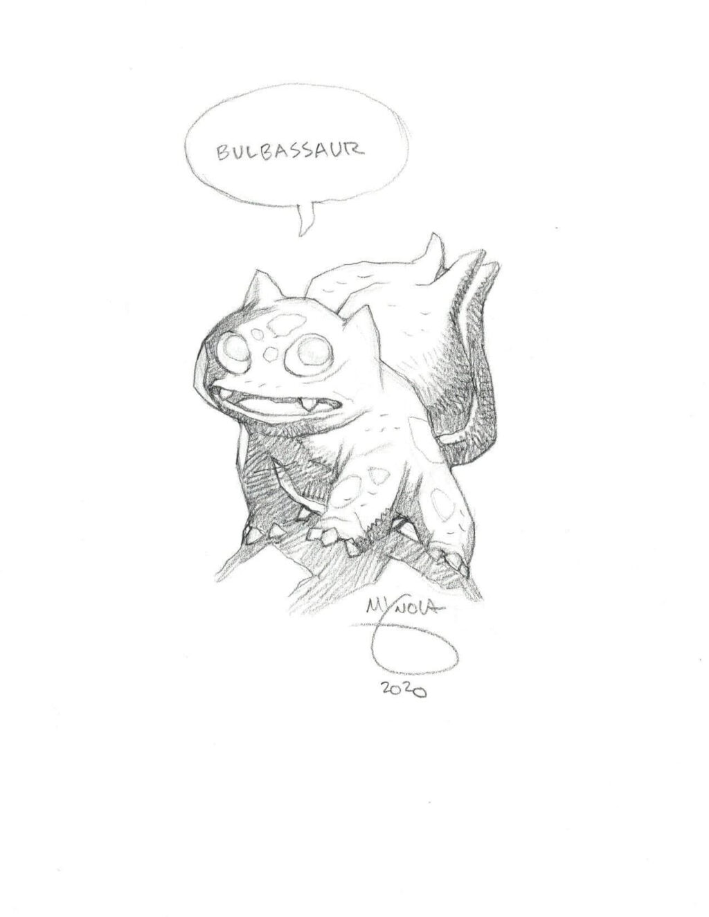 mike mignola bulbasaur 1 1024x1325 - Mike Mignola Shares Incredible Quarantine Artwork Of All Your Favourite Characters