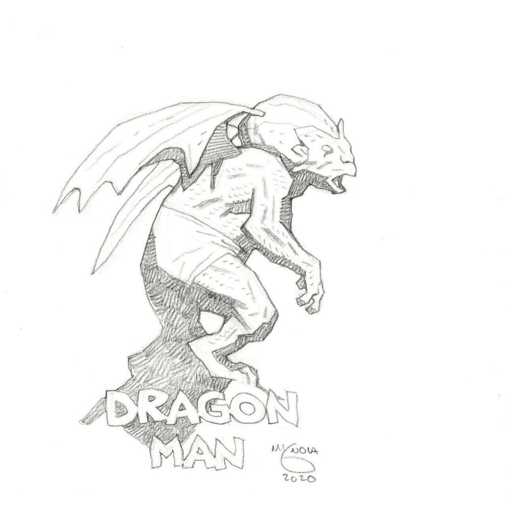 mike mignola dragon man 1 1024x1024 - Mike Mignola Shares Incredible Quarantine Artwork Of All Your Favourite Characters