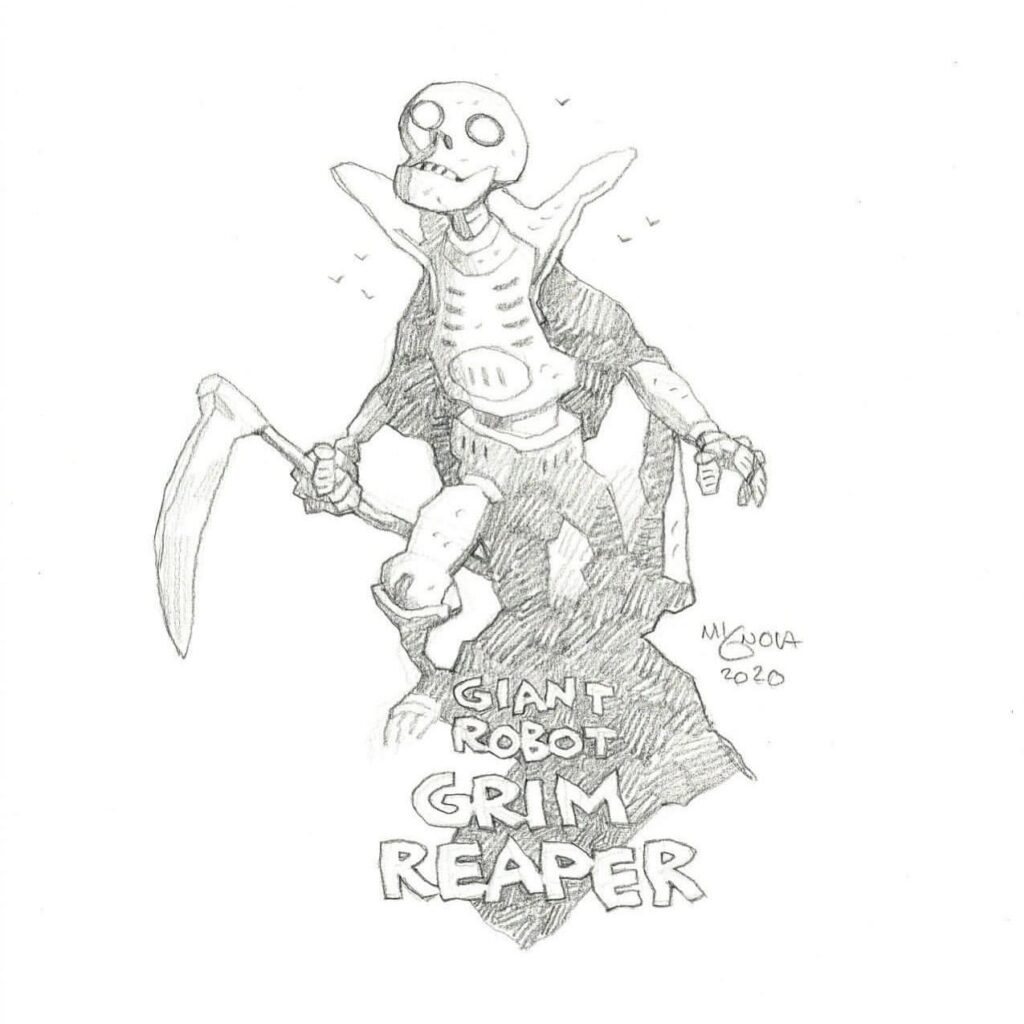 mike mignola giant robot grim reaper 1 1024x1024 - Mike Mignola Shares Incredible Quarantine Artwork Of All Your Favourite Characters