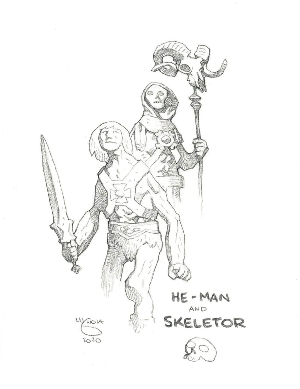 mike mignola he man and skeletor 1 1024x1325 - Mike Mignola Shares Incredible Quarantine Artwork Of All Your Favourite Characters