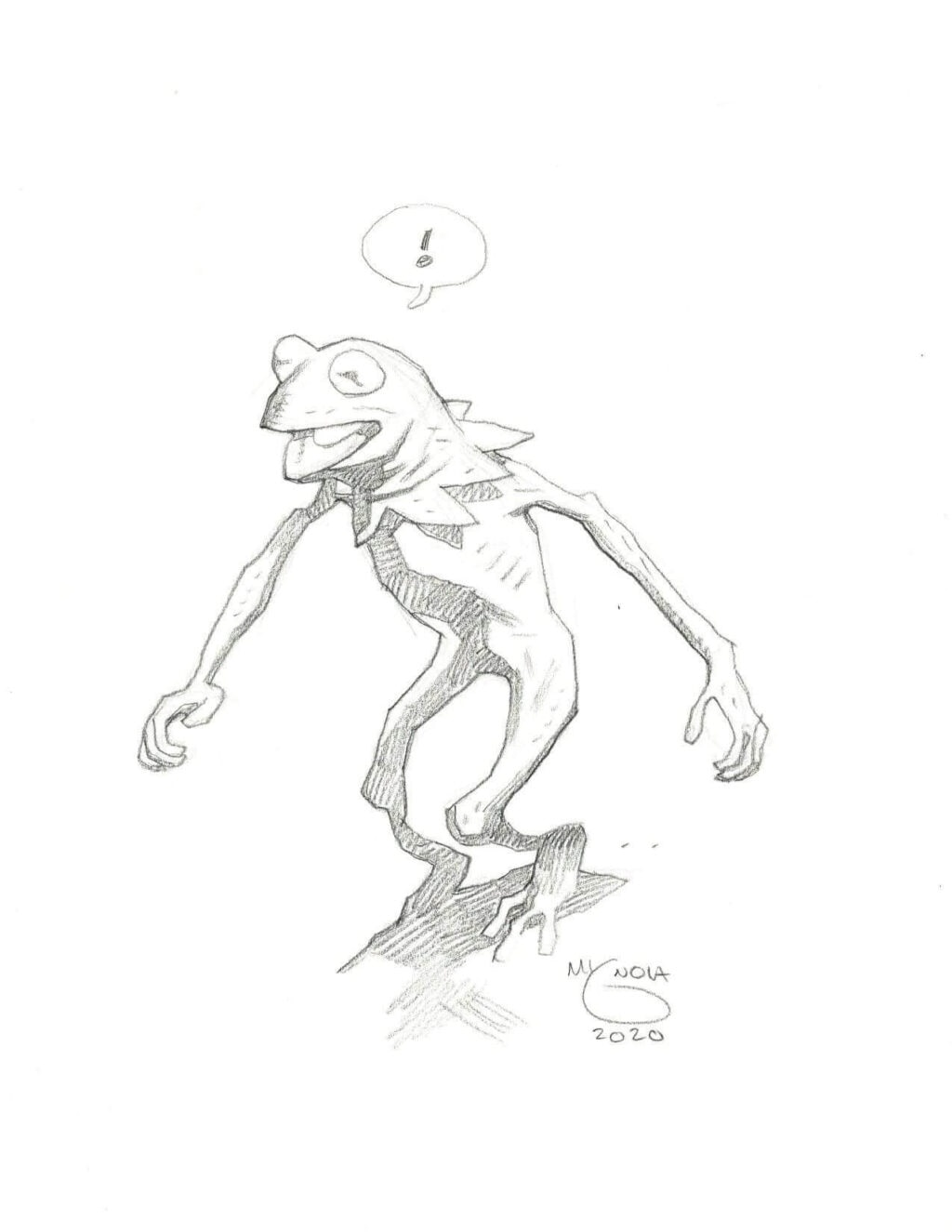mike mignola kermit 2 1 1024x1325 - Mike Mignola Shares Incredible Quarantine Artwork Of All Your Favourite Characters