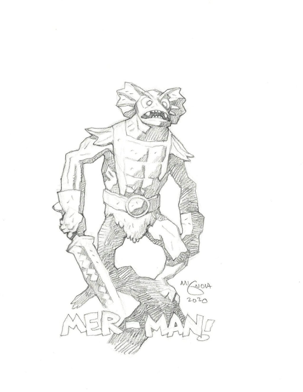 mike mignola merman 1 1024x1325 - Mike Mignola Shares Incredible Quarantine Artwork Of All Your Favourite Characters