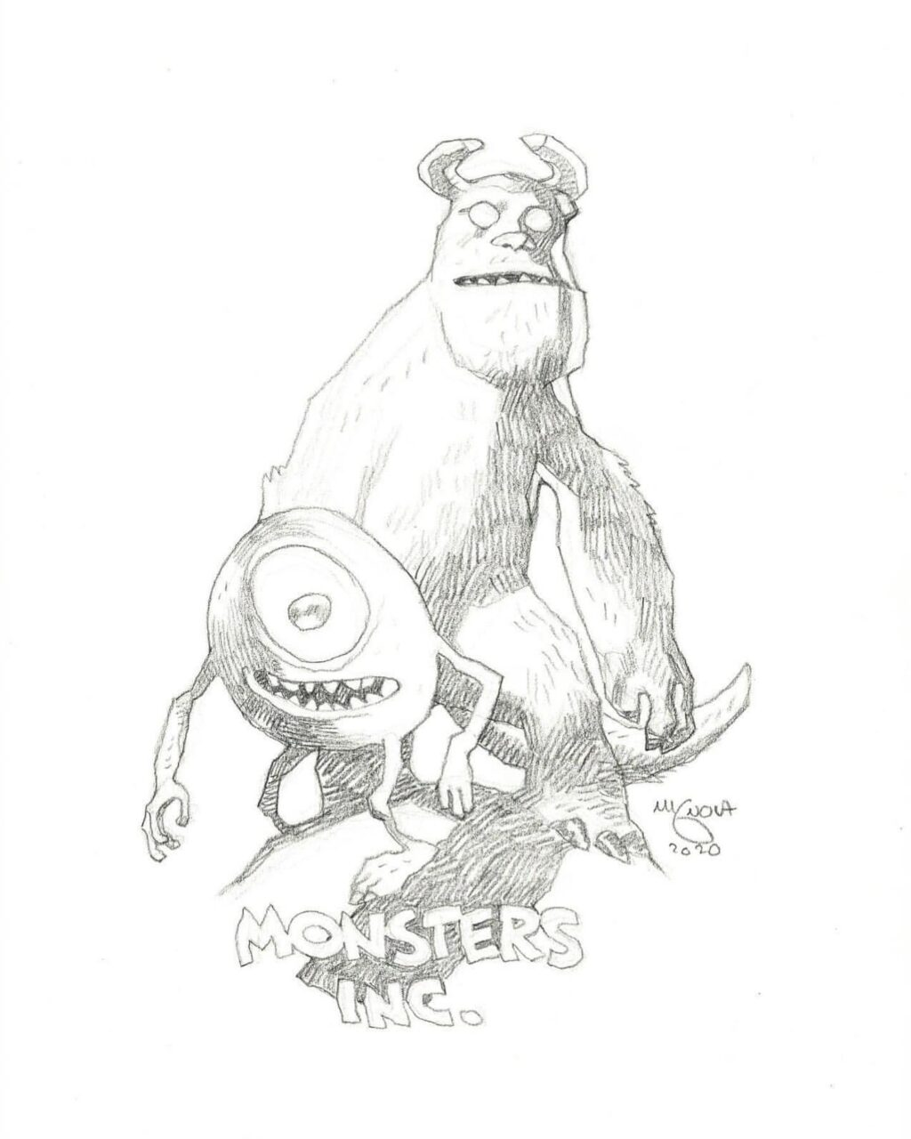 mike mignola monsters inc 1 1024x1280 - Mike Mignola Shares Incredible Quarantine Artwork Of All Your Favourite Characters