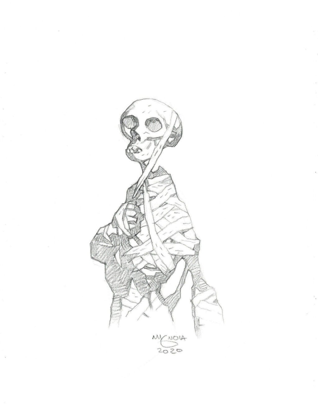 mike mignola mummy 1 1024x1325 - Mike Mignola Shares Incredible Quarantine Artwork Of All Your Favourite Characters