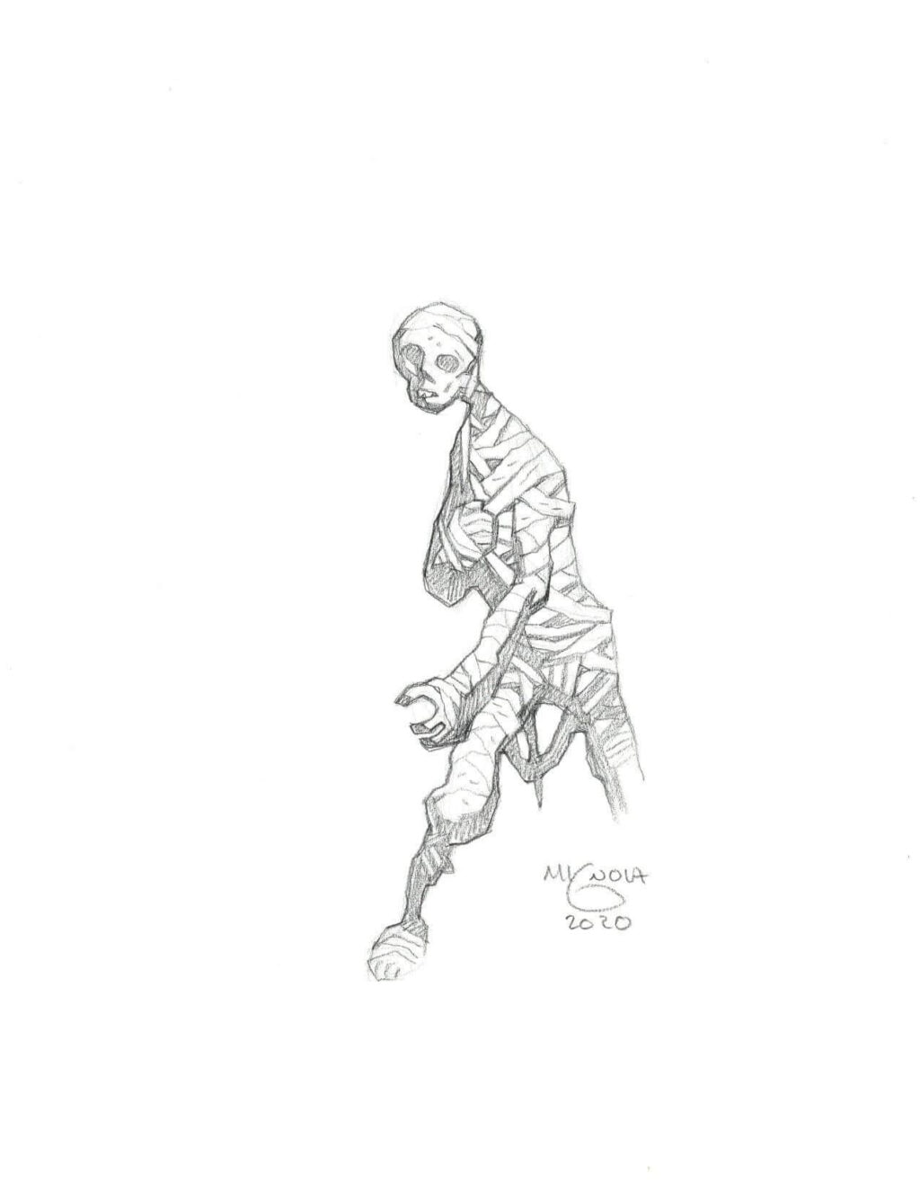 mike mignola mummy 2 1 1024x1325 - Mike Mignola Shares Incredible Quarantine Artwork Of All Your Favourite Characters
