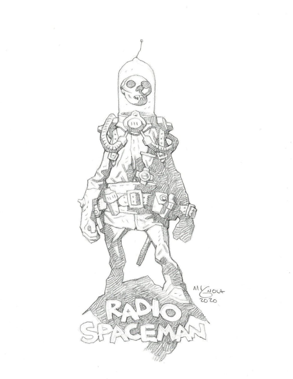 mike mignola radio spaceman 1 1024x1325 - Mike Mignola Shares Incredible Quarantine Artwork Of All Your Favourite Characters