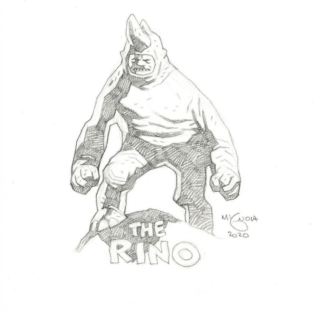 mike mignola rhino 1 1024x1024 - Mike Mignola Shares Incredible Quarantine Artwork Of All Your Favourite Characters