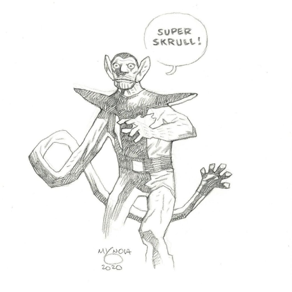 mike mignola super skrull 1 1024x1024 - Mike Mignola Shares Incredible Quarantine Artwork Of All Your Favourite Characters