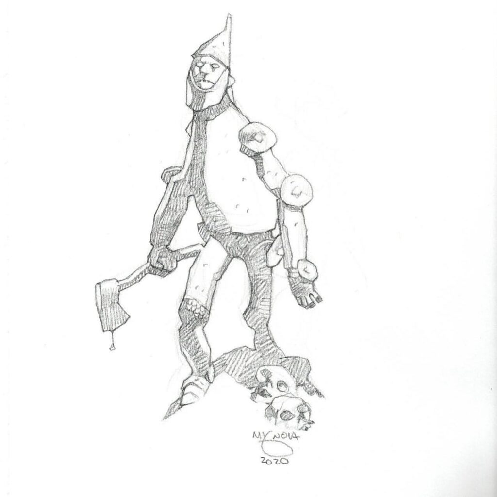mike mignola tin man 1 1024x1024 - Mike Mignola Shares Incredible Quarantine Artwork Of All Your Favourite Characters