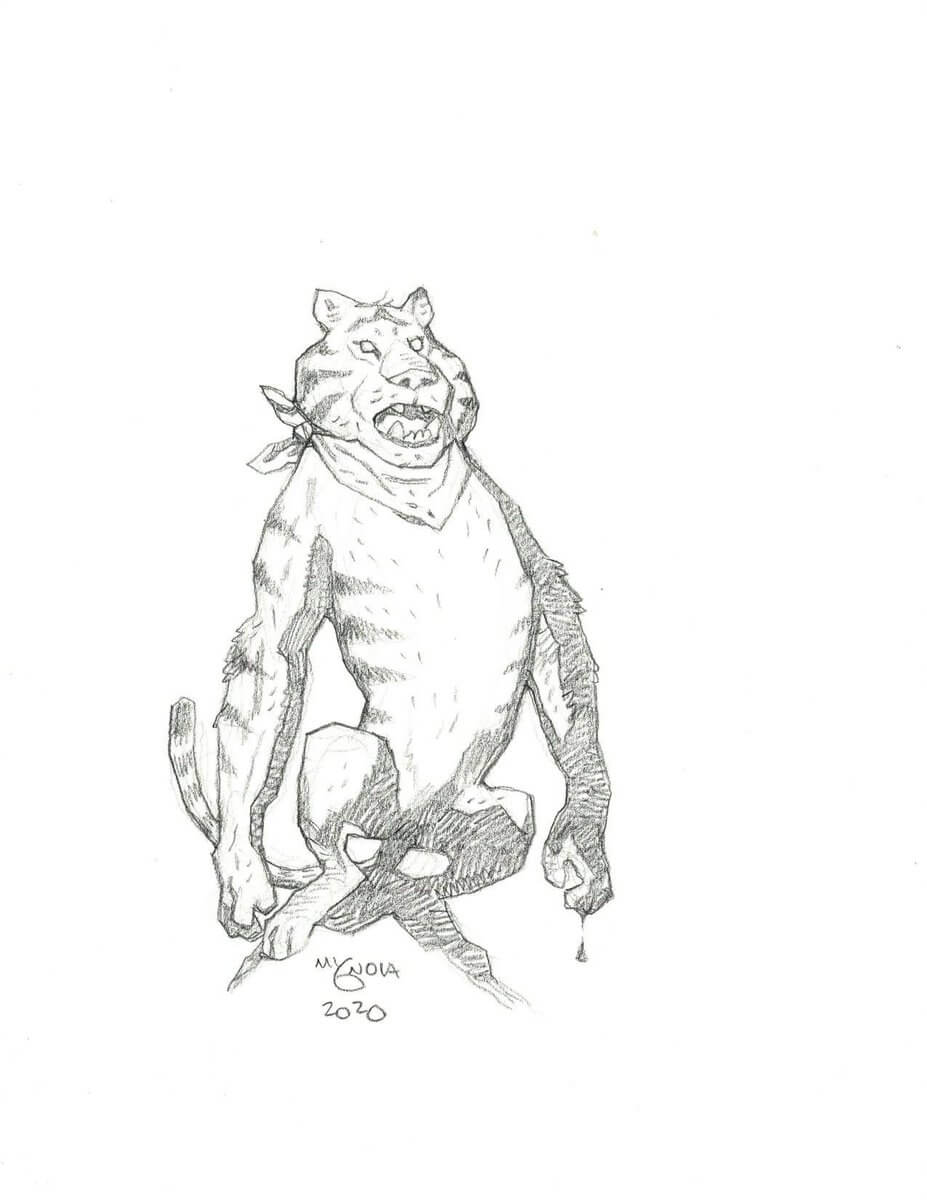 mike mignola tony the tiger 1 - Mike Mignola Shares Incredible Quarantine Artwork Of All Your Favourite Characters
