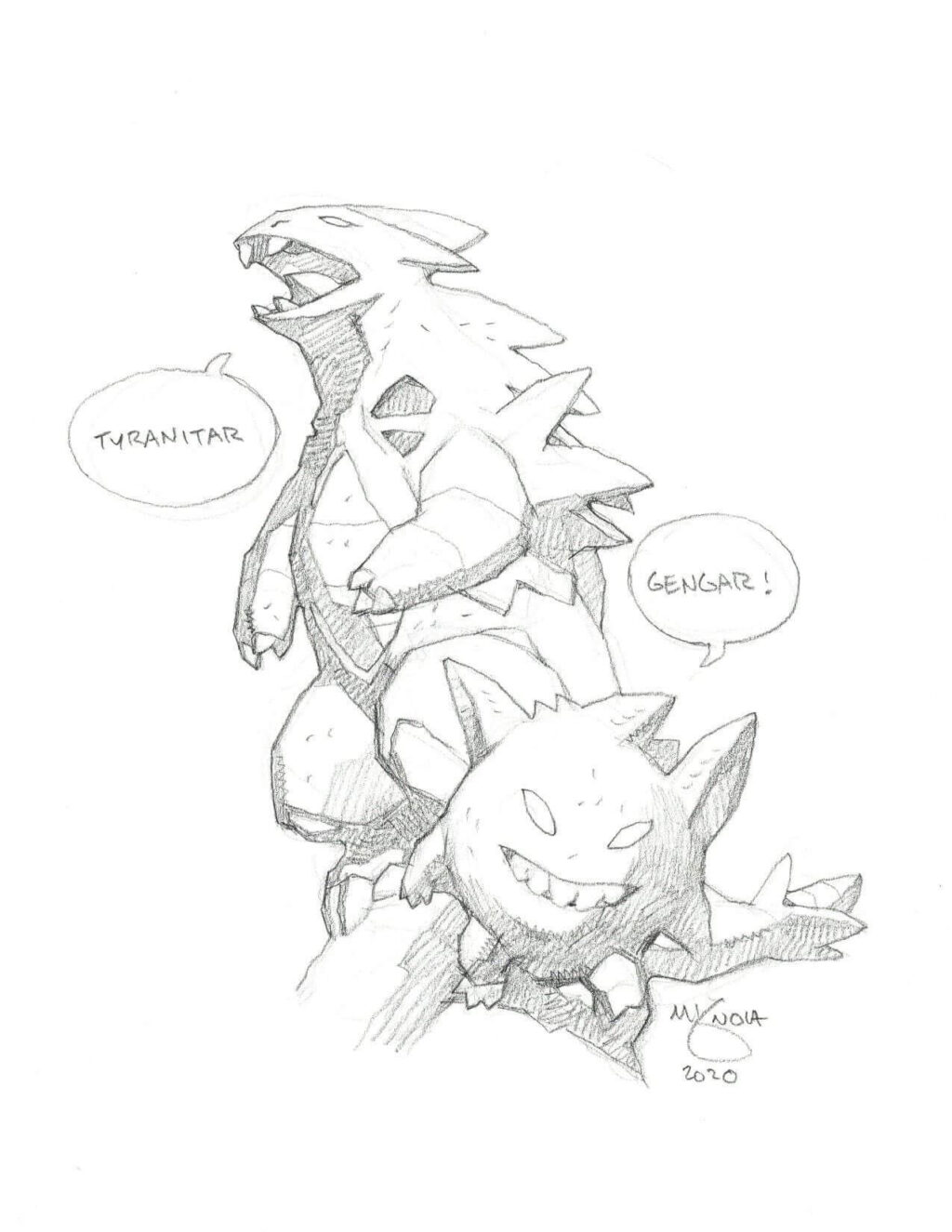 mike mignola tranitar and gengar 1 1024x1325 - Mike Mignola Shares Incredible Quarantine Artwork Of All Your Favourite Characters