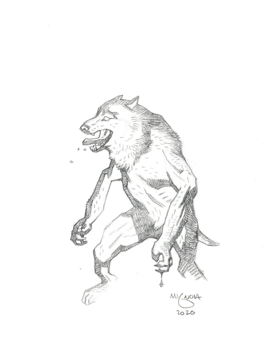 mike mignola wolf 2 1 1024x1325 - Mike Mignola Shares Incredible Quarantine Artwork Of All Your Favourite Characters