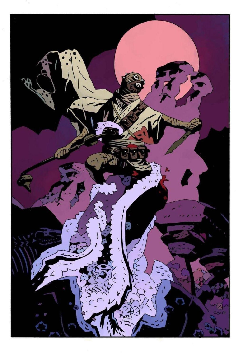 milke mignola tusken raider star wars 1 1024x1496 - Mike Mignola Shares Incredible Quarantine Artwork Of All Your Favourite Characters