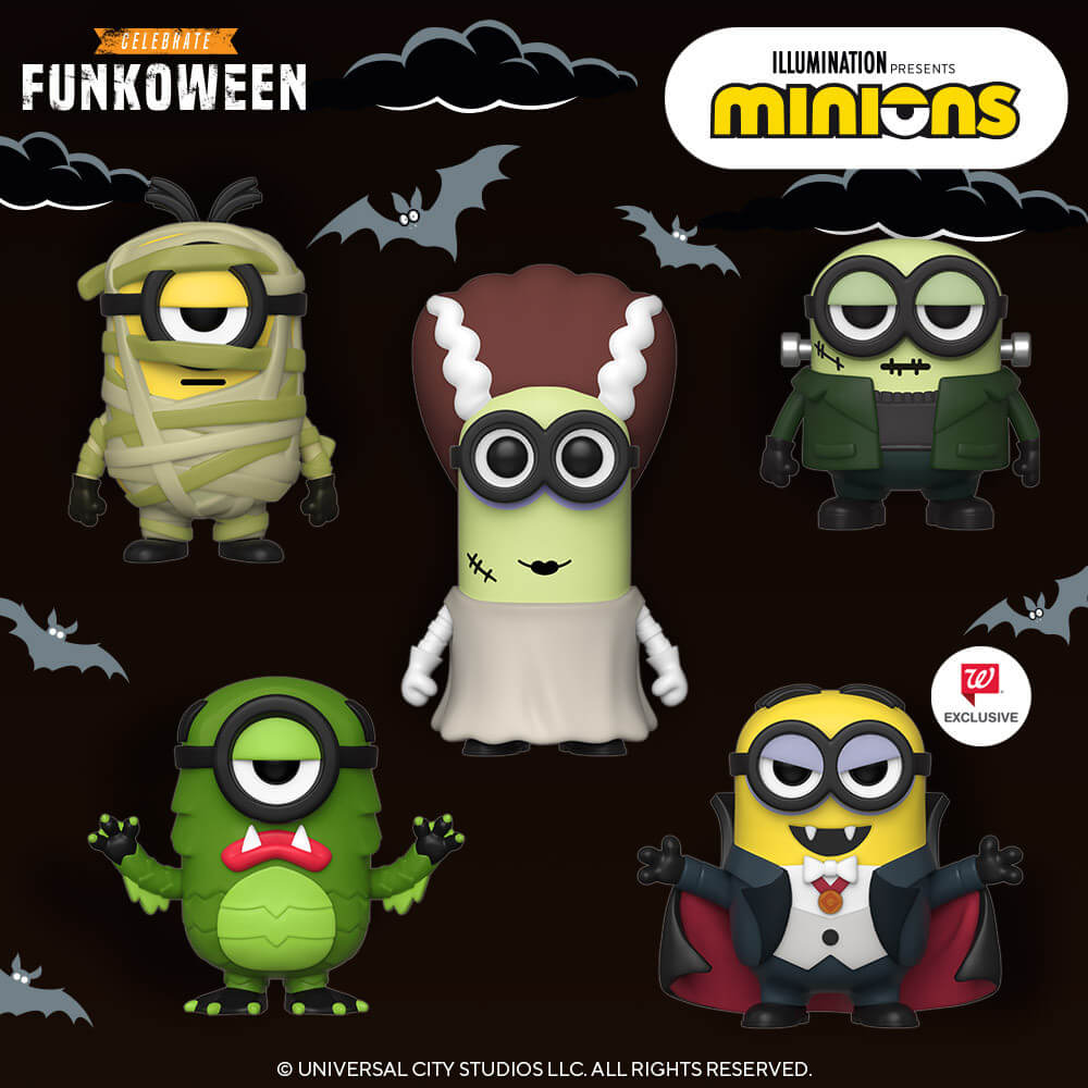 minion funko pop collection 2 1 - Minions Dress Up As Universal Monsters For New Wave Of Halloween Funko Pops
