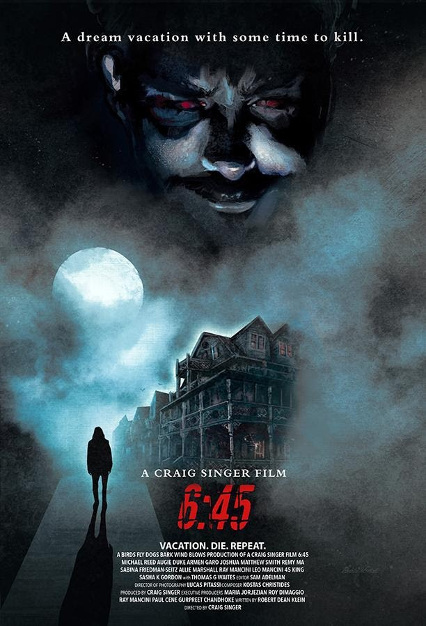 """645 Poster - Trailer and """"First Look"""" at Trippy Time-Loop Horror Movie 6:45"""