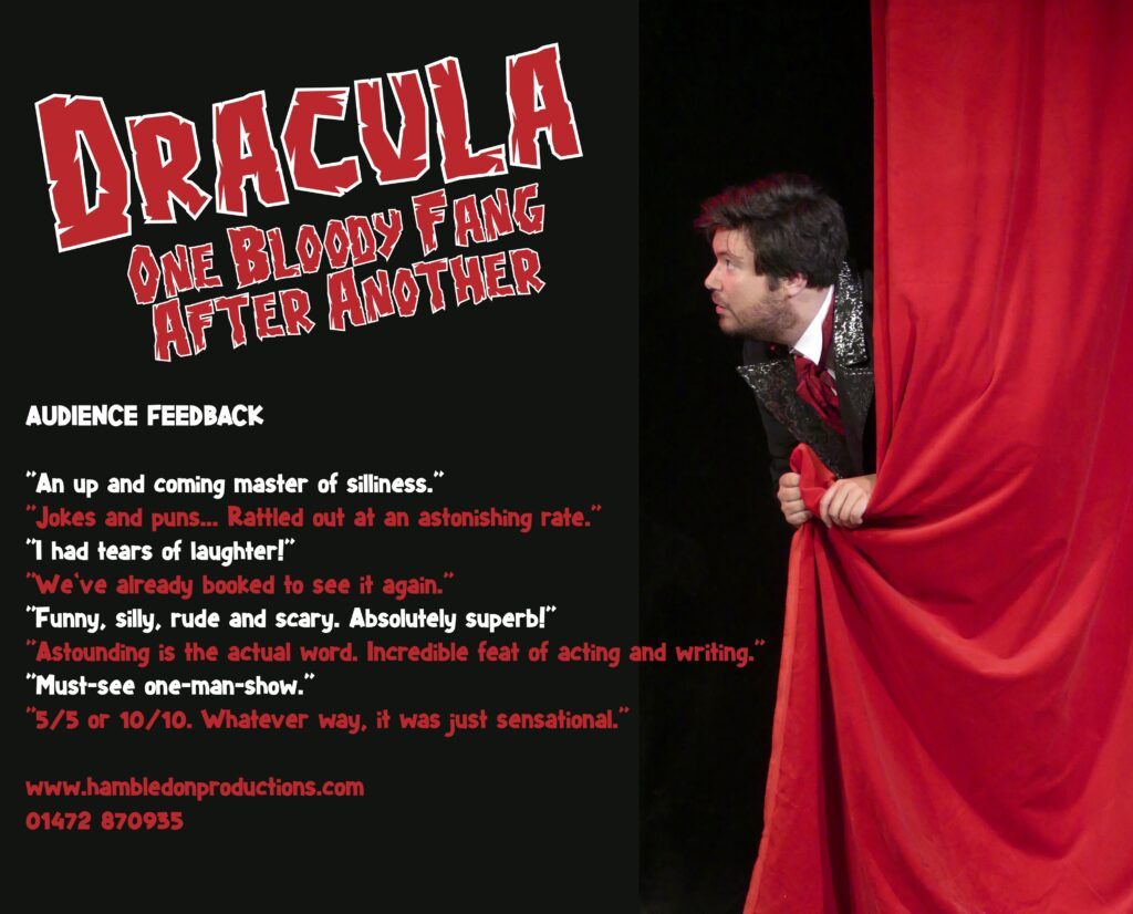 Dracula 1024x826 - Trailer: Audiobook DRACULA! ONE BLOODY FANG AFTER ANOTHER is Comic Send-Up of Bram Stoker's Classic