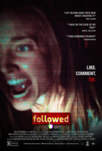FOLLOWED poster 2 203x300 - FOLLOWED Review – Chilling Found Footage of a Haunted Hotel Goes Viral