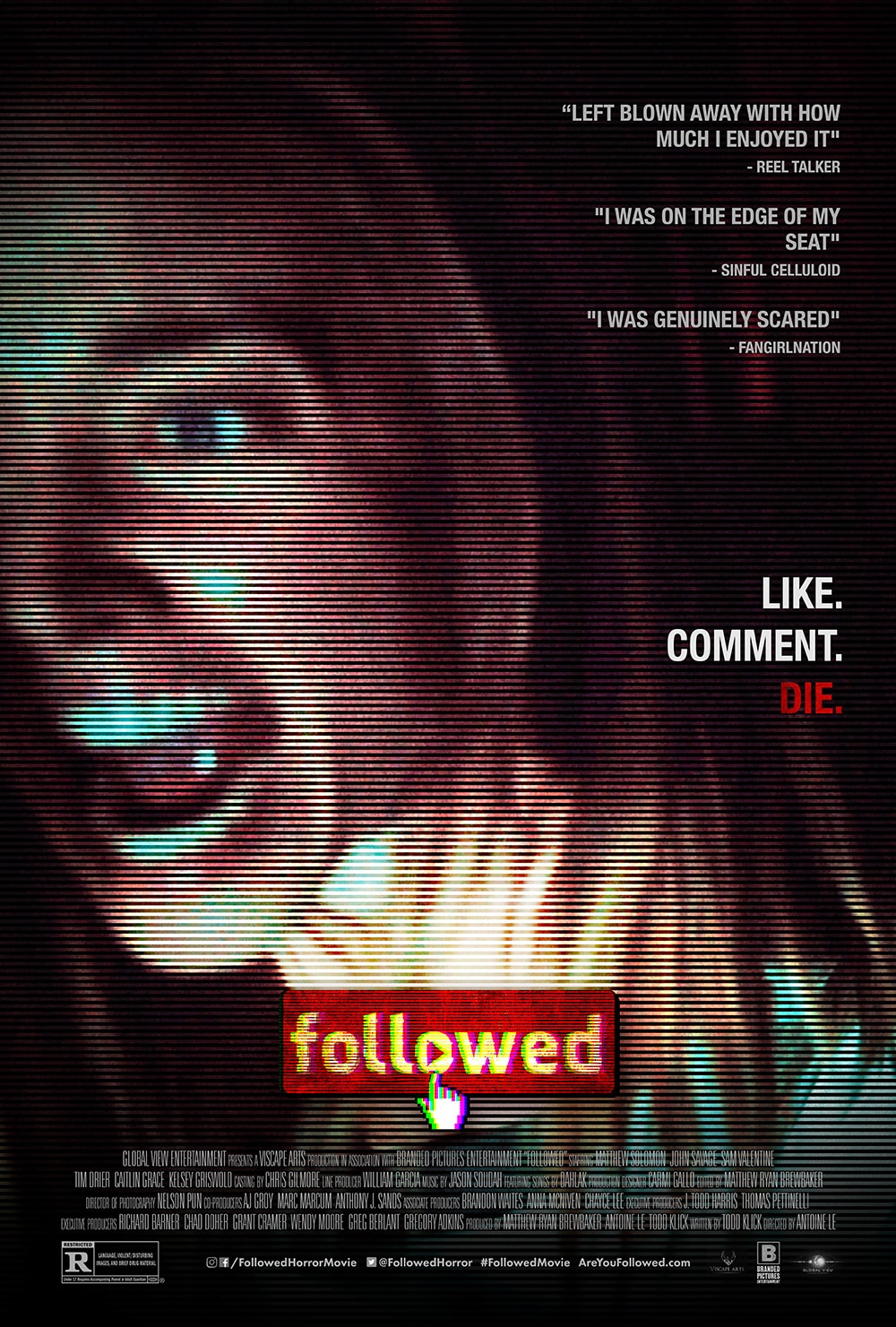 """FOLLOWED poster 2 - """"Dissecting Horror"""" Virtual Panel/Q&A Series Continues July 8th at 6 PM (PST) with the Creatives of FOLLOWED"""