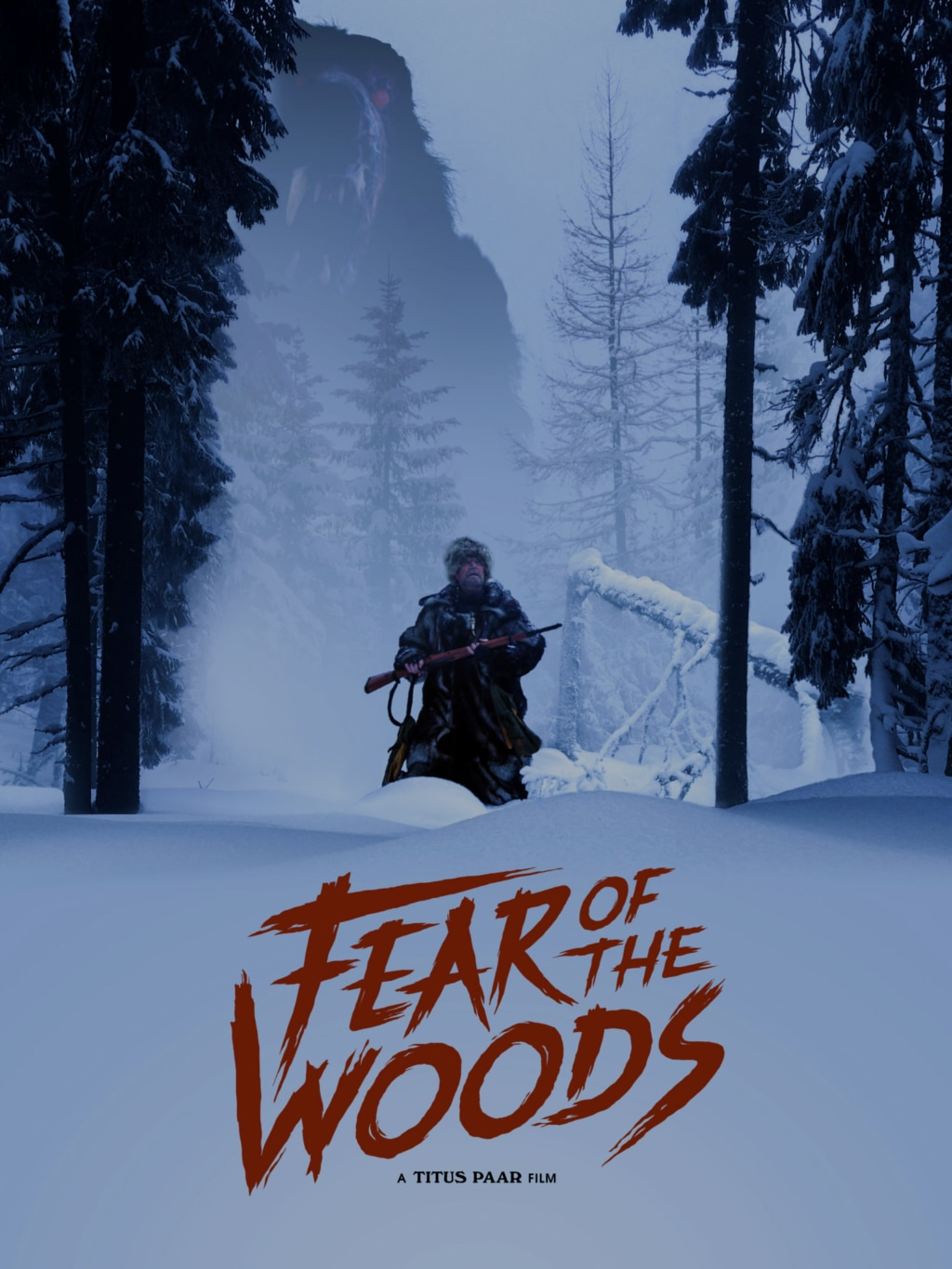 Fear of the Woods Poster 1024x1365 - Trailer: Real Animatronics (No CGI!) in Survival Horror FEAR OF THE WOODS