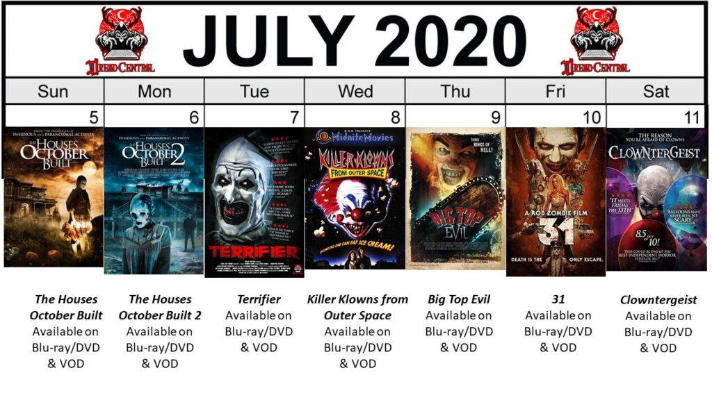 July 2020 week 2 Final 1024x576 - Circus of Dread: Our 366-Day #YearOfDread Horror Challenge Continues with Clown & Carnival Movies