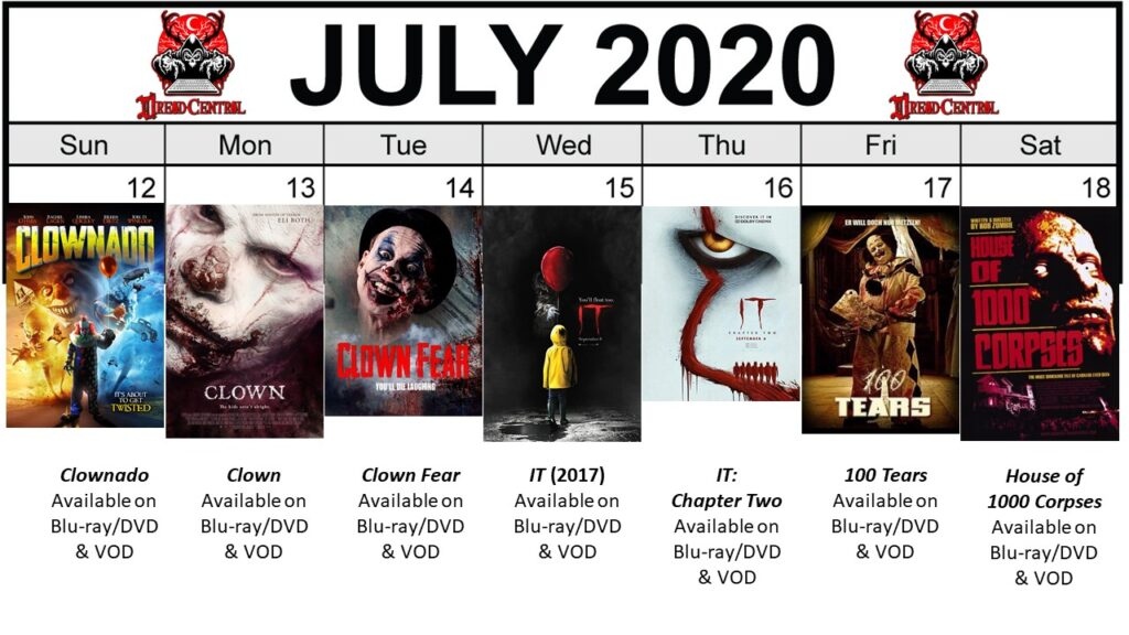 July 2020 week 3 Final 1024x576 - Circus of Dread: Our 366-Day #YearOfDread Horror Challenge Continues with Clown & Carnival Movies