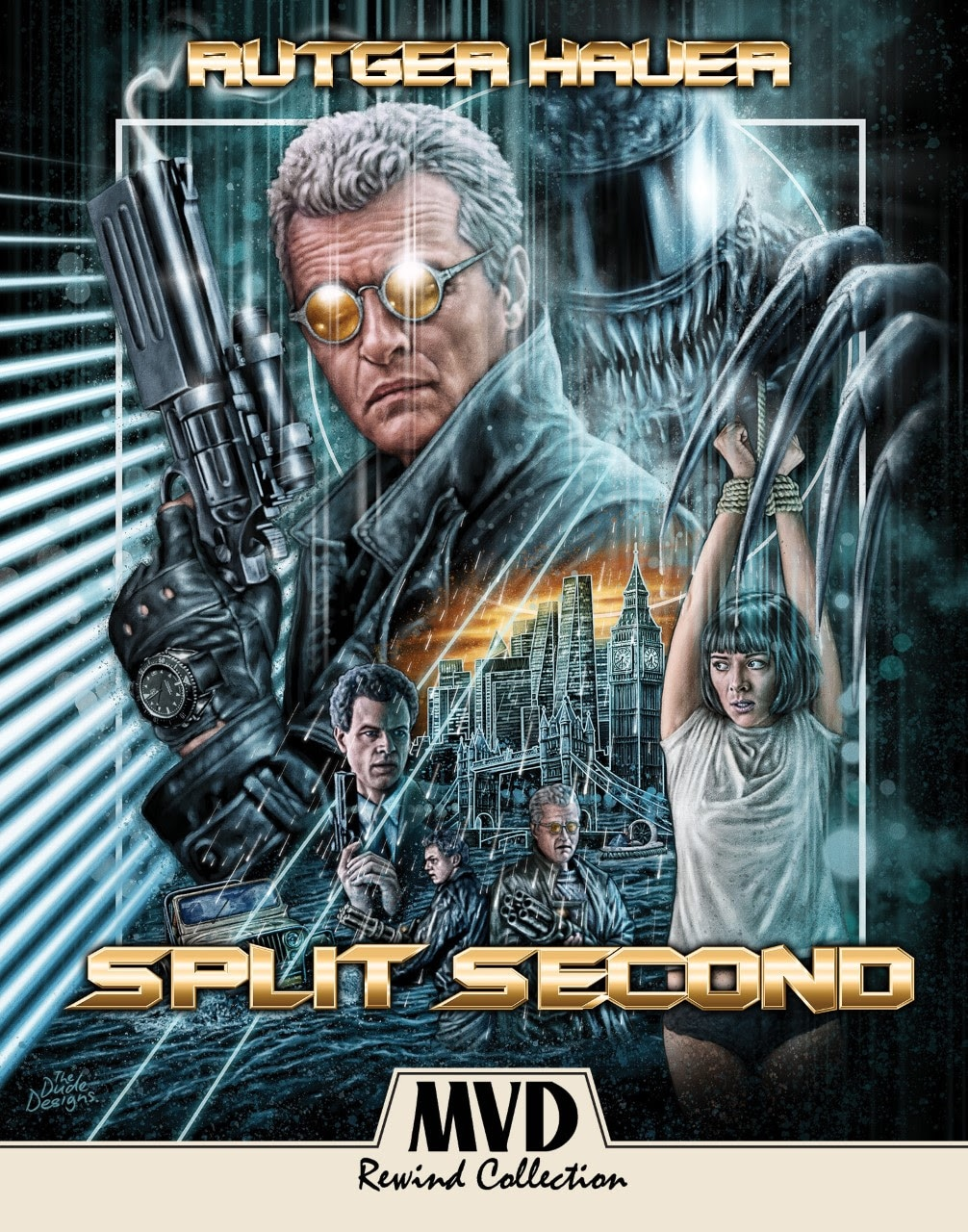 Split Second Poster - SPLIT SECOND Starring Rutger Hauer Makes Its Long-Awaited Debut On Blu-ray August 11th