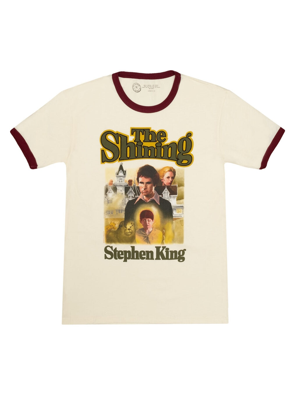 Unisex Ringer Stephen King The Shining 1024x1365 - Out of Print's STEPHEN KING Collection Sports Classic Cover Art!