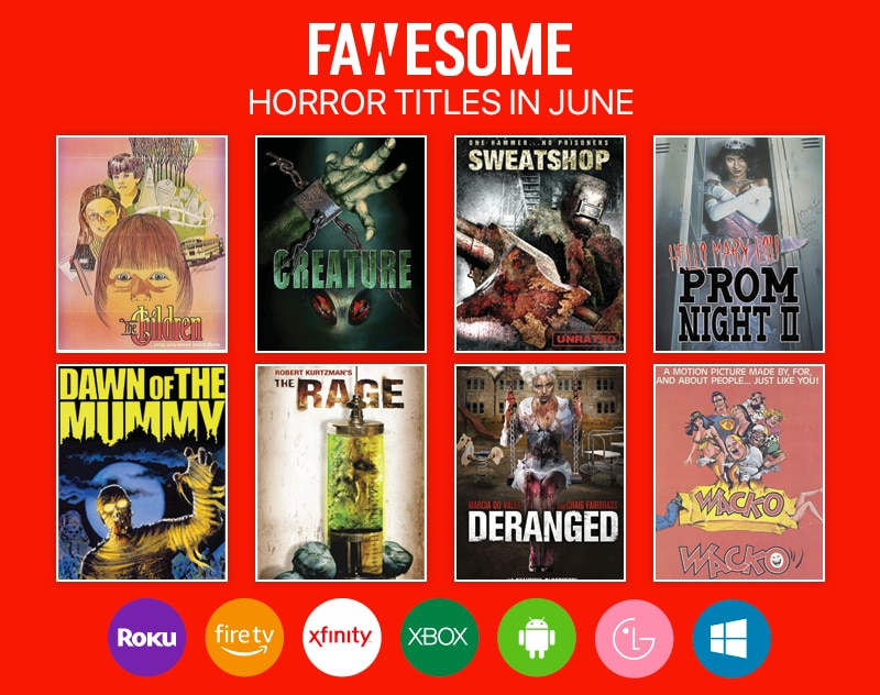 fawesome 8 horror - Fawesome.TV Announce Latest Titles Streaming This Month