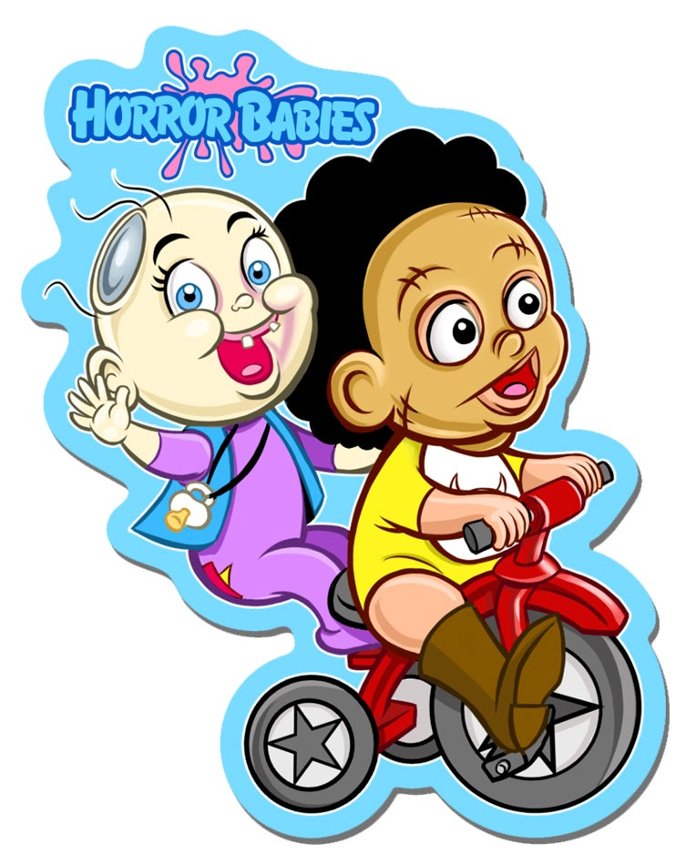 """HB BUBBA STICKER - These """"Horror Babies"""" Are So Cute It's Scary!"""