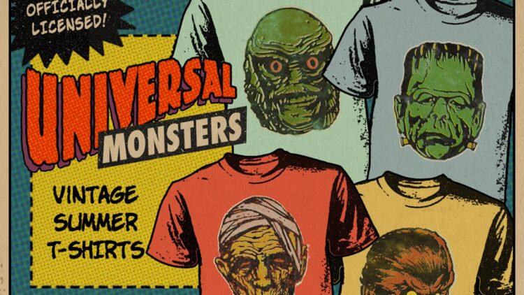 Universal Monsters Fright Rags Collection Banner 750x422 - Get Nostalgic with SCARE PACKAGE, UNIVERSAL MONSTERS & PHANTASM II Apparel from Fright-Rags