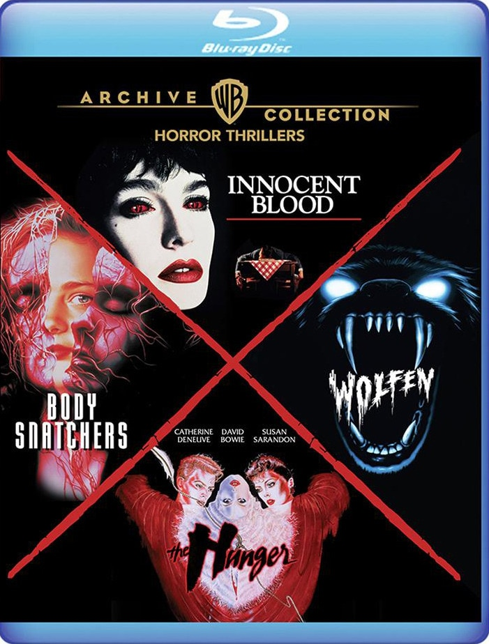 Warner Horror - Warner Archive Unleashes  WOLFEN, THE HUNGER, INNOCENT BLOOD, and BODY SNATCHERS Four-Film Blu-ray Set This Month