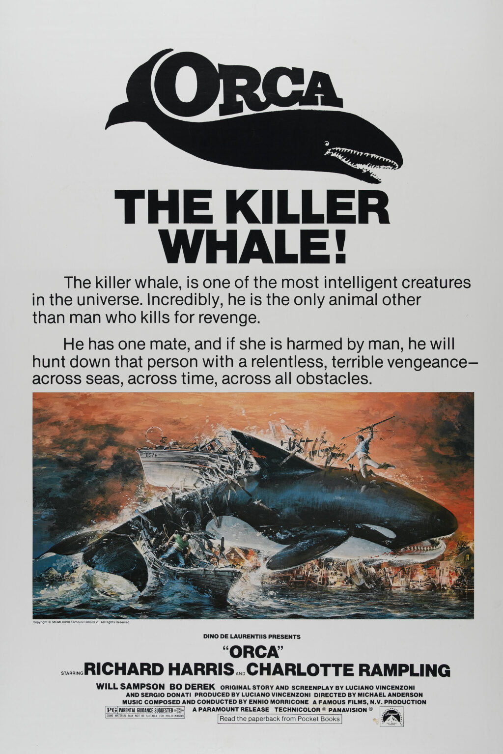 orca movie poster 1024x1534 - This Day in Horror History: ORCA Was Released in 1977