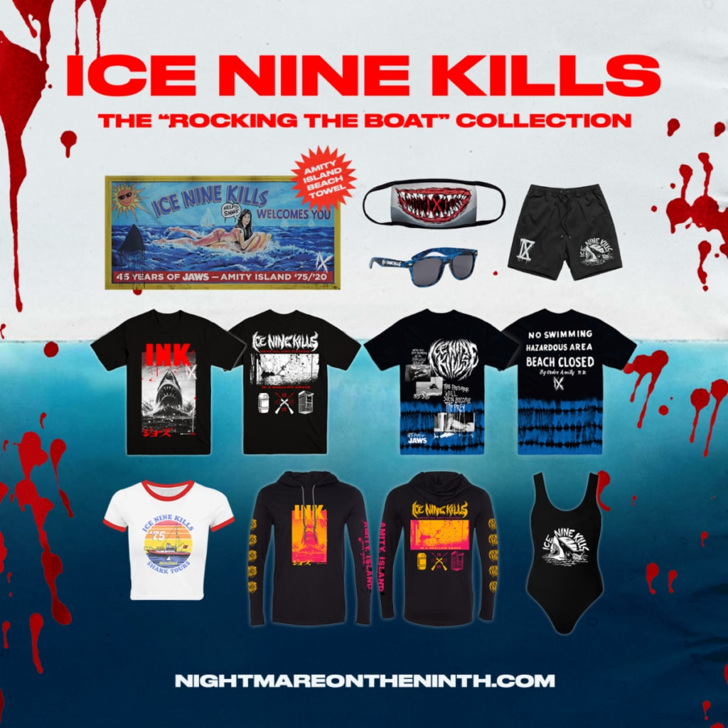 unnamed 2 1024x1024 - Video: Ice Nine Kills Celebrate 45th Anniversary of JAWS with Mini-Documentary & Special Merch Drop
