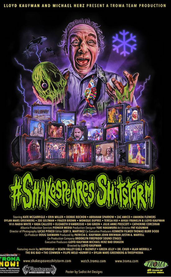 C shakespeares shitstorm Fanstasia logo for web - Fantasia Fest 2020: SHAKESPEARE'S SHITSTORM Review - Troma Celebrates 45 Years With Toilet Musical Version Of THE TEMPEST
