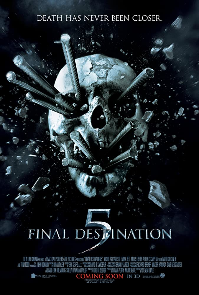 Final Destination 5 - FINAL DESTINATION Is One of the Most Consistently Enjoyable Horror Franchises--Ever