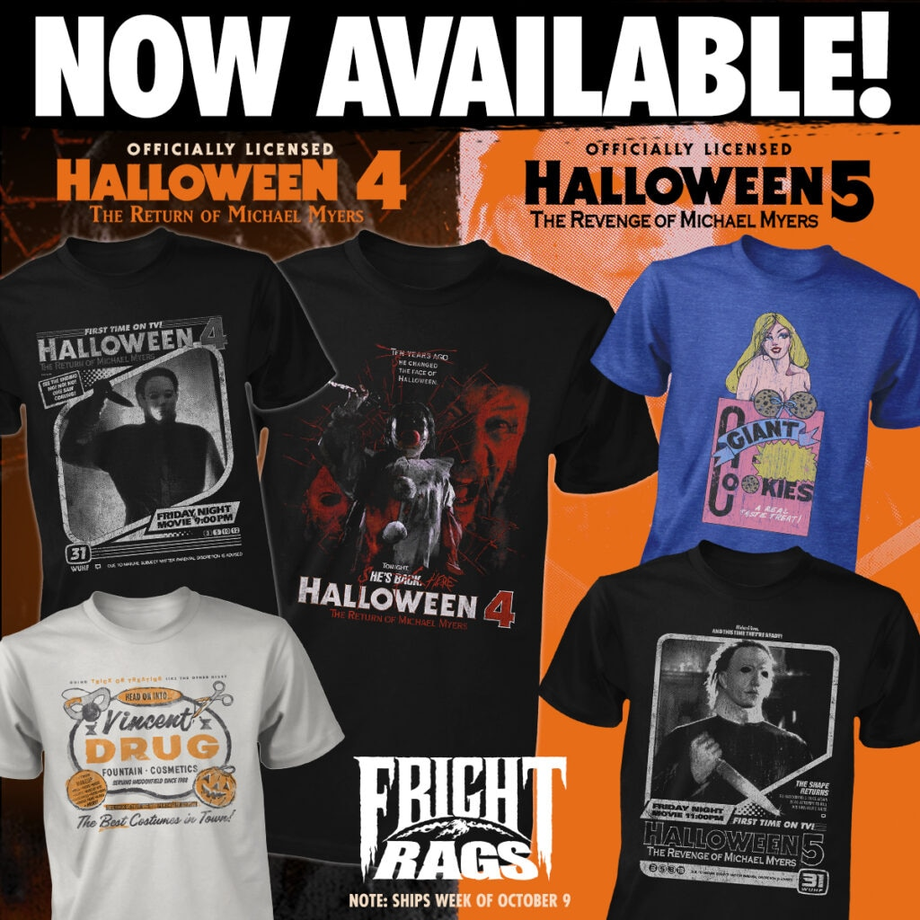 0920 Halloween45 FrightRags 1024x1024 - Spooky Season is Here with HALLOWEEN 4 + 5, TRICK 'R TREAT, & TALES FROM THE DARKSIDE Merch from Fright-Rags