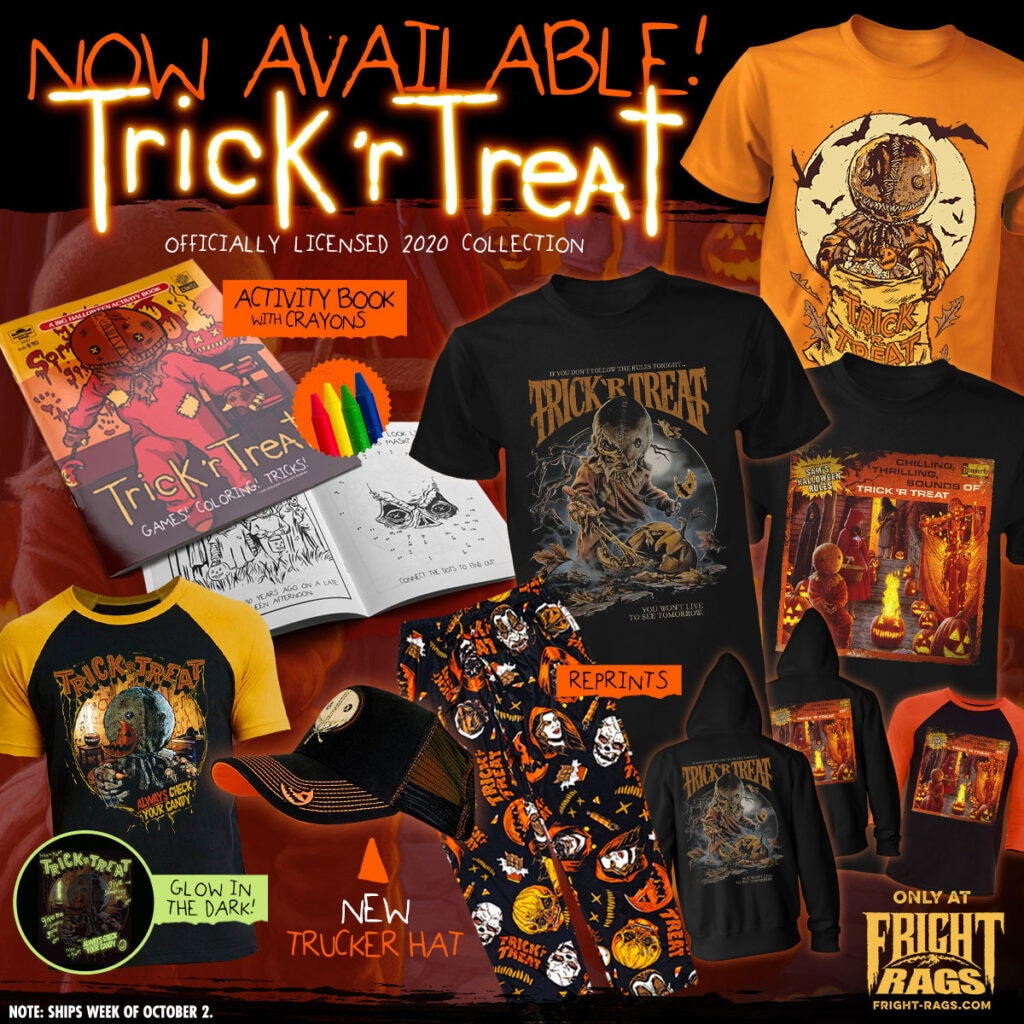 0920 TrickRTreat FrightRags 1024x1024 - Spooky Season is Here with HALLOWEEN 4 + 5, TRICK 'R TREAT, & TALES FROM THE DARKSIDE Merch from Fright-Rags