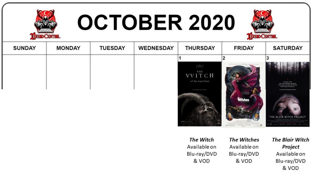 October 2020 week 1 1024x576 - Our Next #MonthOfDread Celebrates The Season of the Witch!