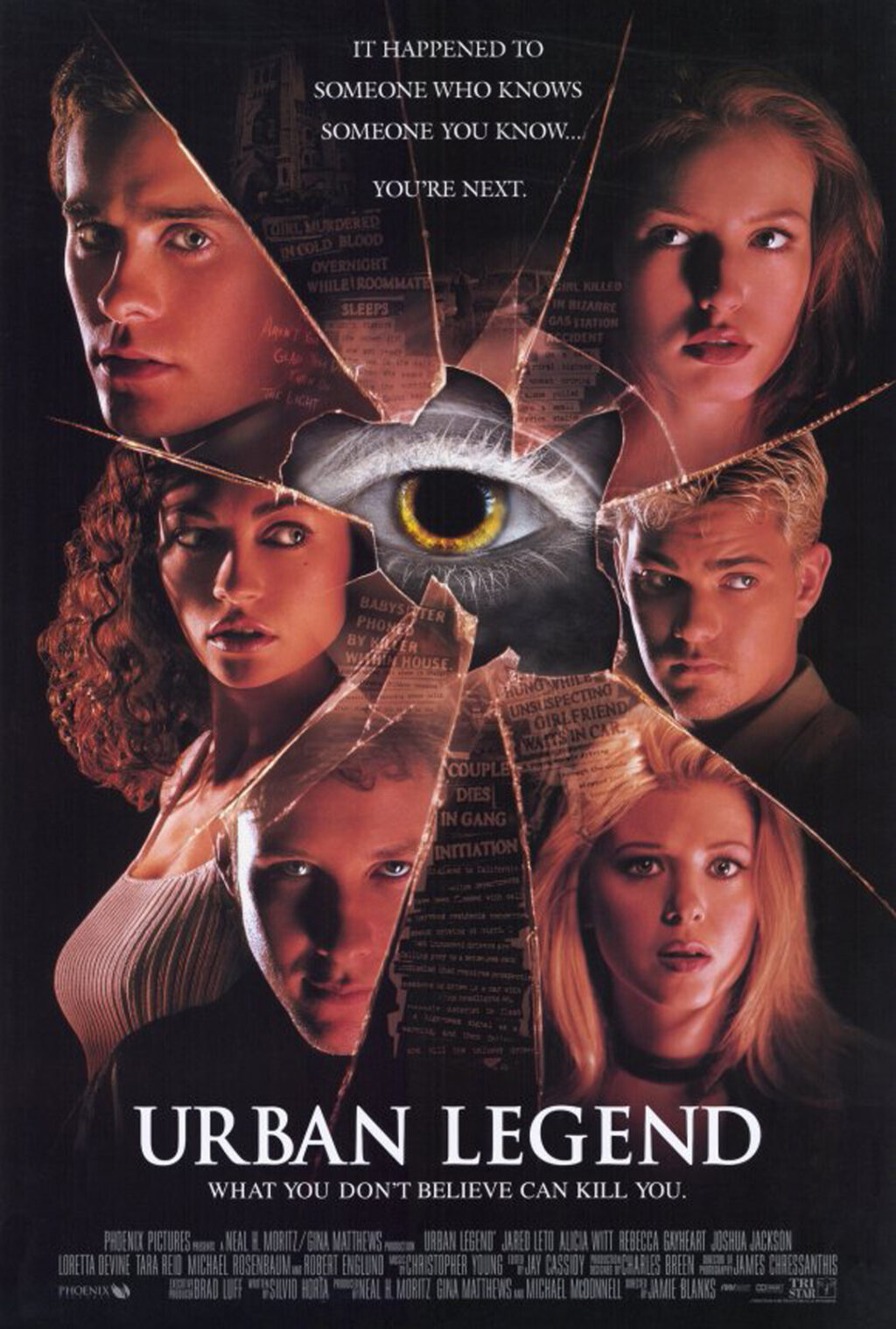 Urban Legend 1998 poster 1024x1517 - This Day in Horror History: 90s Slasher Classic URBAN LEGEND Opened in 1998